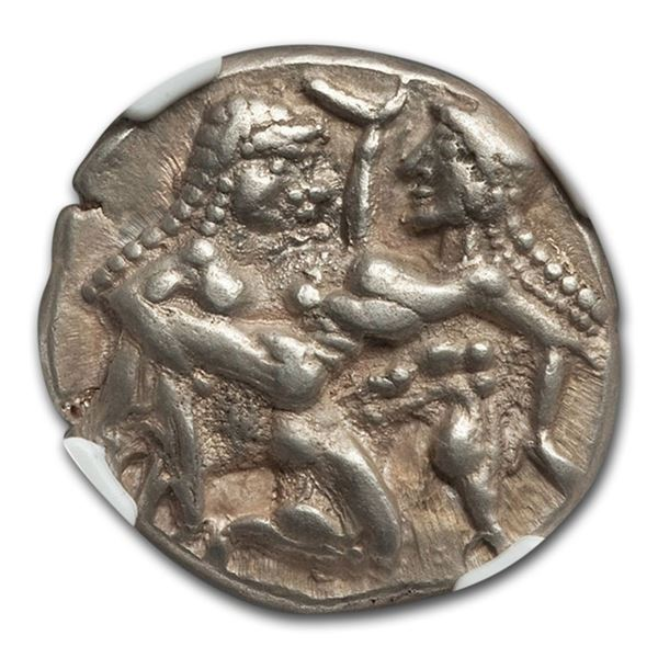 Thrace Isle of Thasos Silver AR Stater (525-450 BC) Ch XF NGC