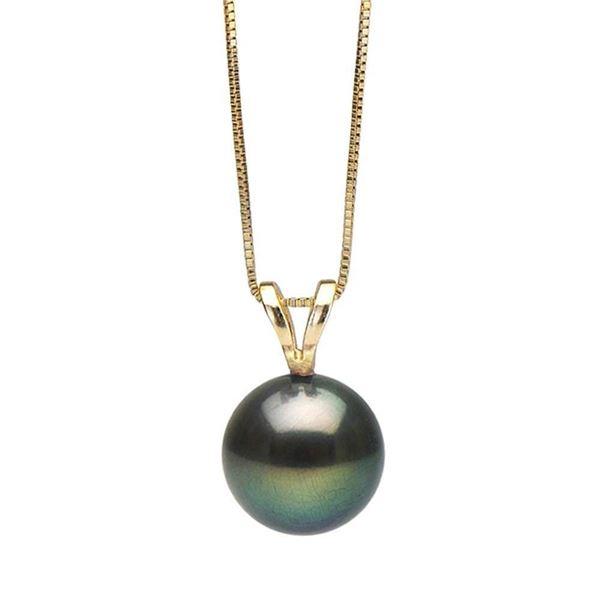 Black Freshwater Classic Pearl Pendant, 7.0-10.0mm
