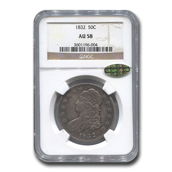 1832 Capped Bust Half Dollar AU-58 NGC CAC