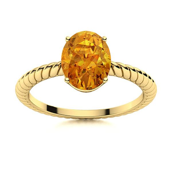 Natural 0.81 CTW Citrine Solitaire Ring 18K Yellow Gold