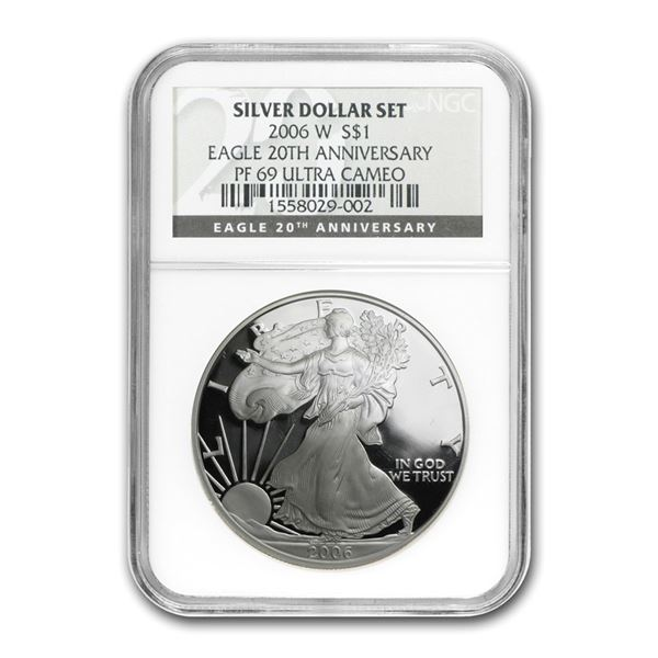 2006-W Proof Silver American Eagle PF-69 NGC (Black Label)