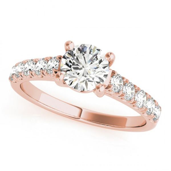Natural 1.55 ctw Diamond Solitaire Ring 14k Rose Gold