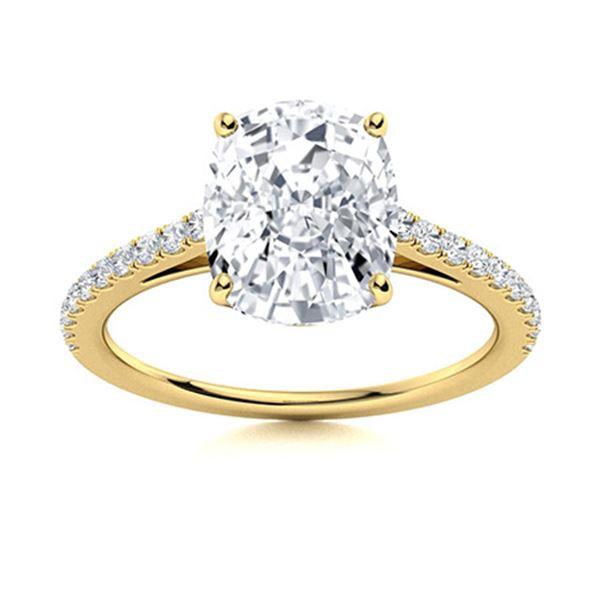 Natural 2.54 CTW Topaz & Diamond Engagement Ring 18K Yellow Gold
