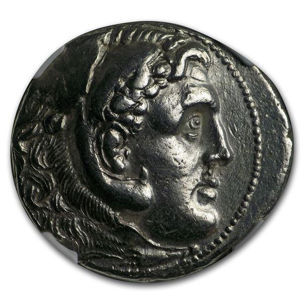 Caria AR Tetradrachm Alex. III (3rd-2nd c. BC) XF NGC