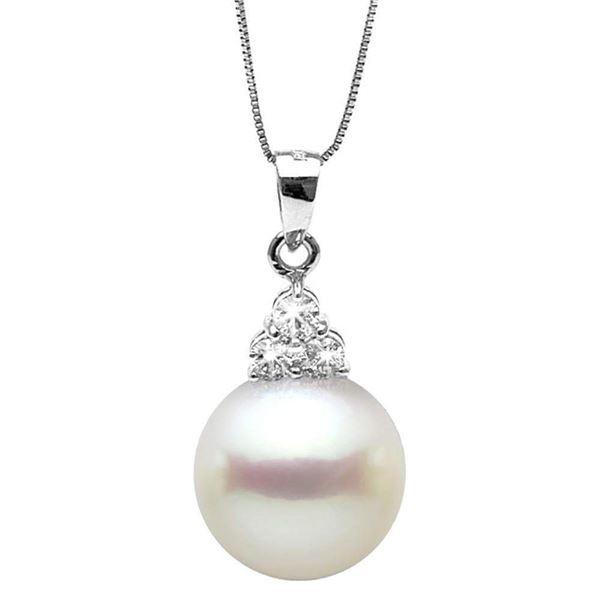 White South Sea Pearl and Diamond Charm Pendant