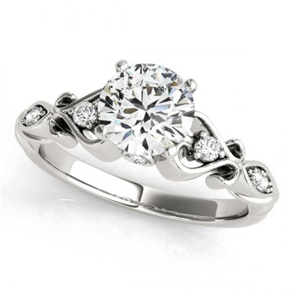 Natural 0.65 ctw Diamond Antique Ring 14k White Gold