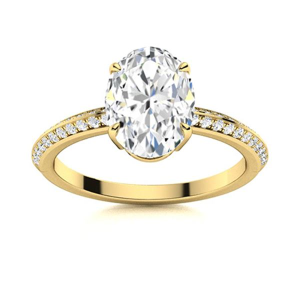 Natural 3.33 CTW Topaz & Diamond  Engagement Ring 14K Yellow Gold