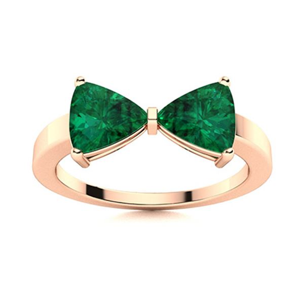 Natural 1.91 CTW Emerald Solitaire Ring 14K Rose Gold