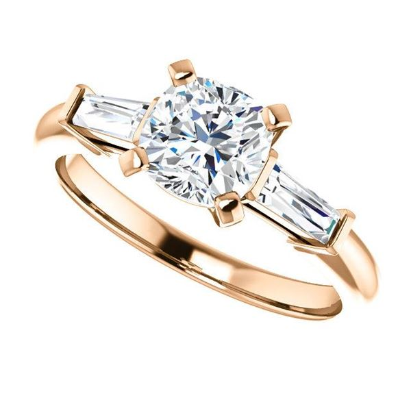 Natural 2.02 CTW Cushion Cut 3-Stone Diamond Ring 14KT Rose Gold
