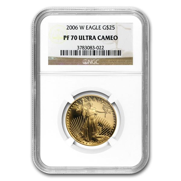 2006-W 1/2 oz Proof Gold American Eagle PF-70 NGC