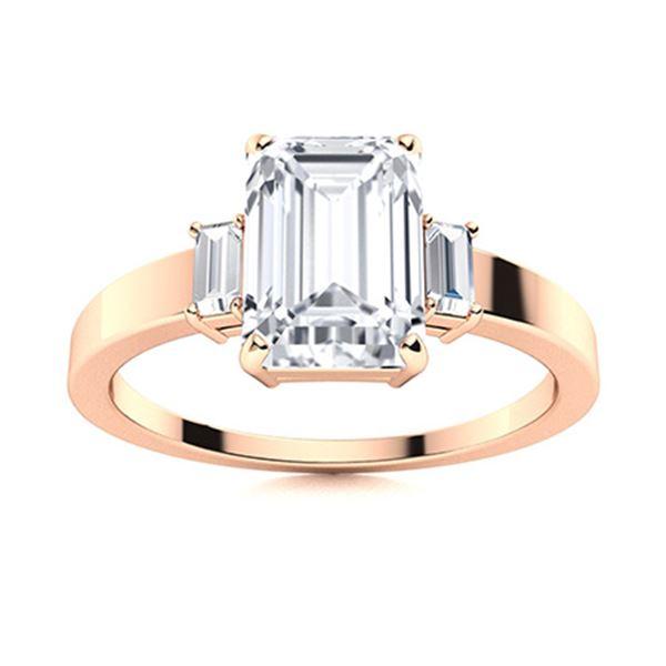 Natural 1.71 CTW Topaz & Diamond  Engagement Ring 14K Rose Gold