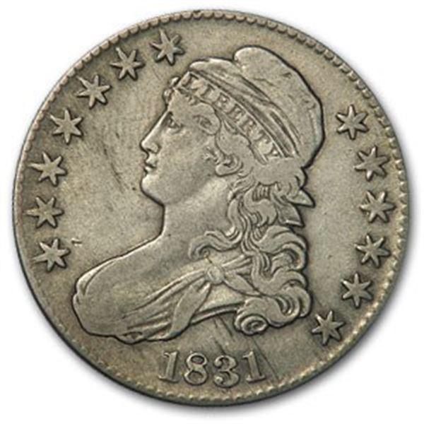 1831 Capped Bust Half Dollar VF