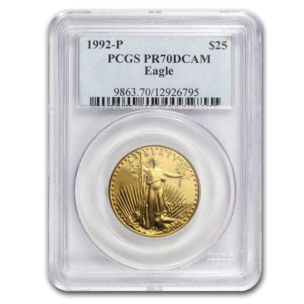 1992-P 1/2 oz Proof Gold American Eagle PR-70 PCGS