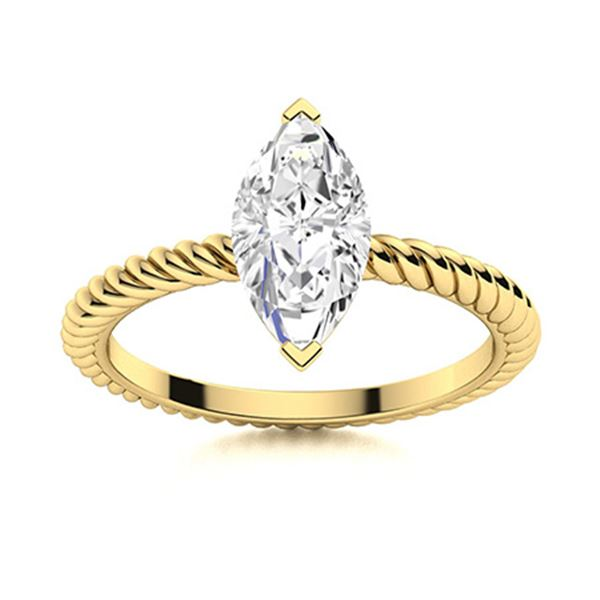 Natural 0.31 CTW Topaz Solitaire Ring 18K Yellow Gold
