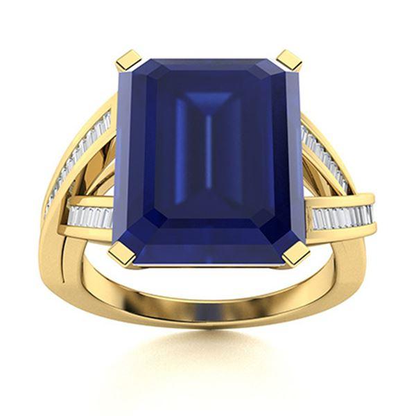 Natural 2.0 CTW Sapphire & Diamond Engagement Ring 14K Yellow Gold