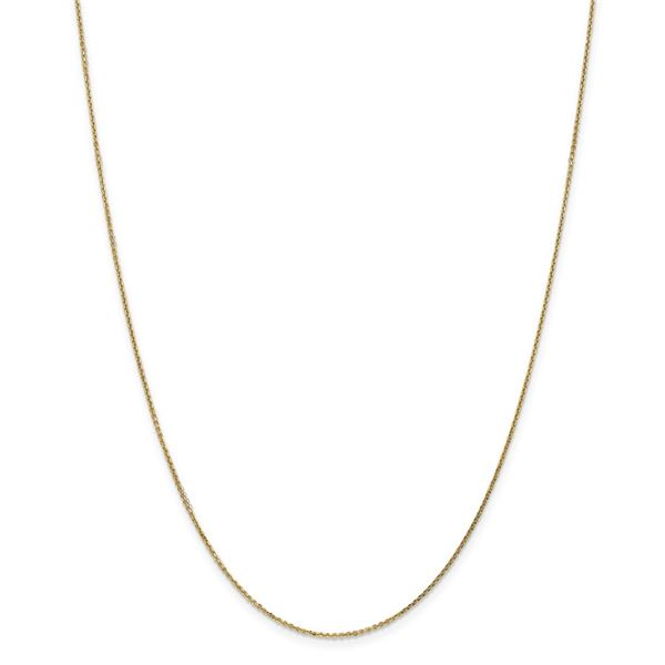 14k Yellow Gold .95 mm Diamond Cut Cable Chain - 26 in.