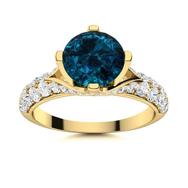 Natural 2.24 CTW Topaz & Diamond Engagement Ring 18K Yellow Gold