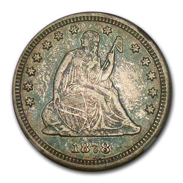 1878-CC Liberty Seated Quarter AU-53 NGC