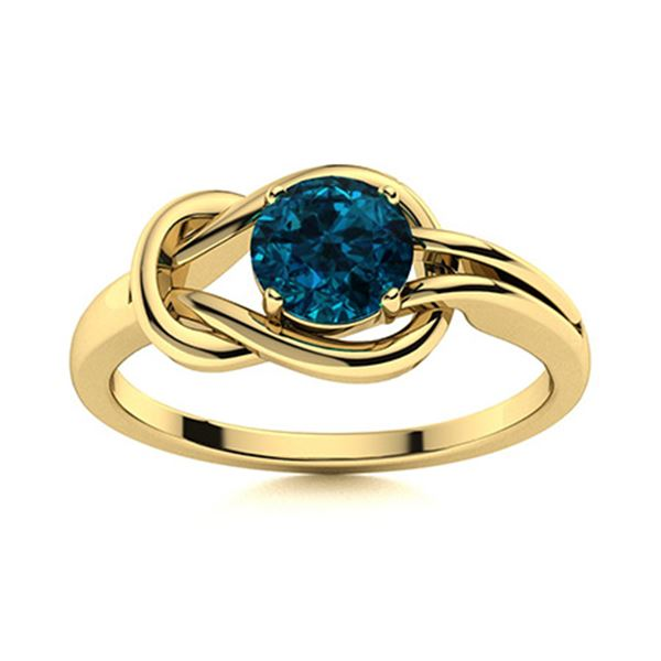 Natural 0.42 CTW Topaz Solitaire Ring 18K Yellow Gold