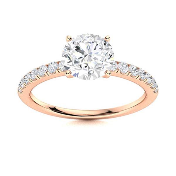 Natural 1.97 CTW Topaz & Diamond Engagement Ring 18K Rose Gold