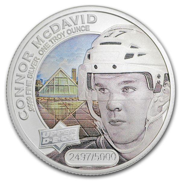 2017 Grandeur 1 oz Silver Hockey: McDavid (Colorized)