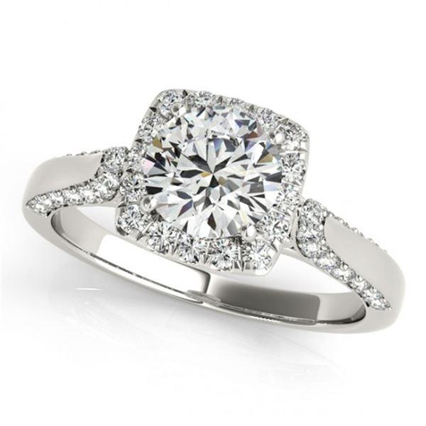 Natural 1.35 ctw Diamond Halo Ring 14k White Gold