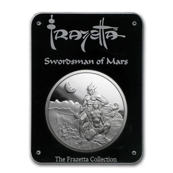 2 oz Silver Proof Round - Frank Frazetta (Swordsman of Mars)