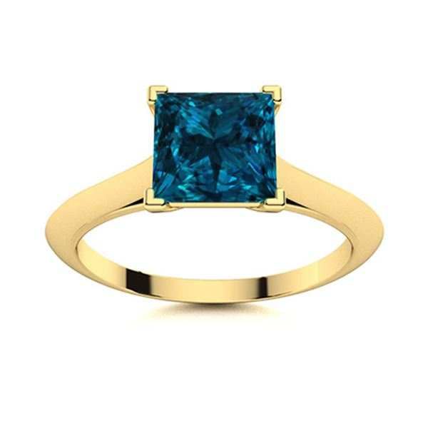 Natural 0.68 CTW Topaz Solitaire Ring 18K Yellow Gold