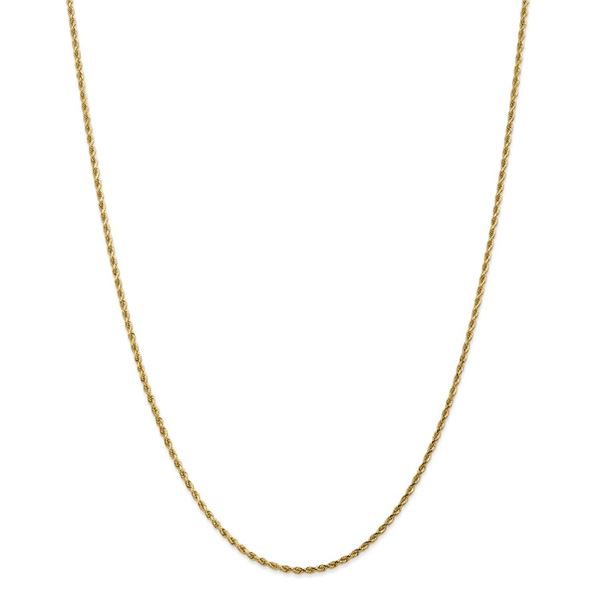 14k Yellow Gold 1.75 mm Diamond Cut Rope Chain - 26 in.