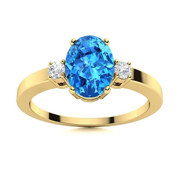 Natural 1.58 CTW Topaz & Diamond  Engagement Ring 14K Yellow Gold