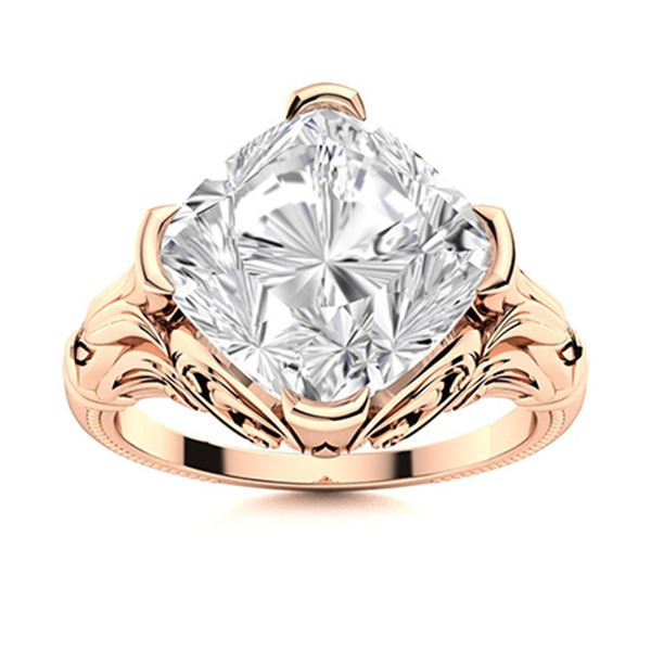 Natural 2.41 CTW Topaz Solitaire Ring 14K Rose Gold