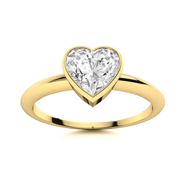 Natural 0.90 CTW Topaz Solitaire Ring 18K Yellow Gold