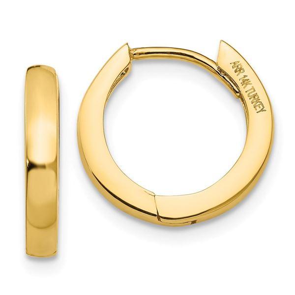 14k 10 mm Hinged Hoop Earrings