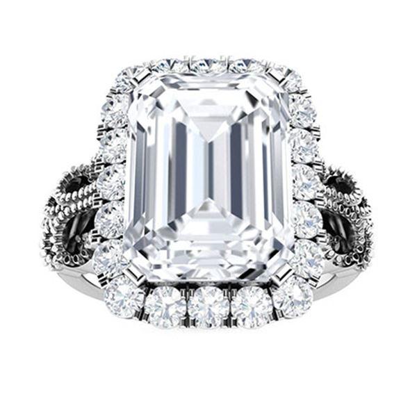 Natural 5.67 CTW Topaz & Diamond  Engagement Ring 14K White Gold
