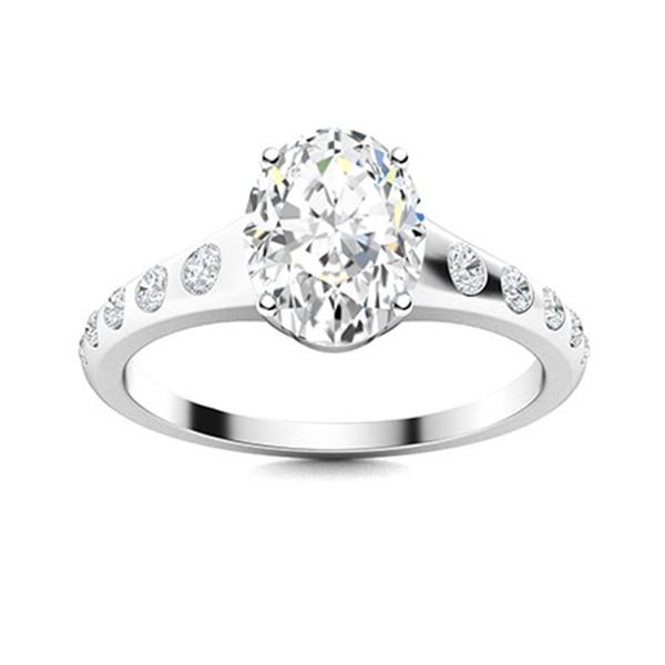 Natural 1.42 CTW Diamond Solitaire Ring 14K White Gold