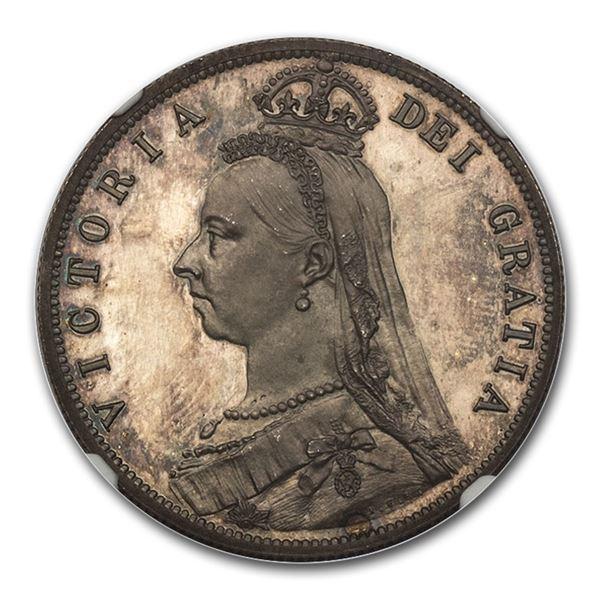 1887 Great Britain Silver Half Crown Victoria PF-65 NGC