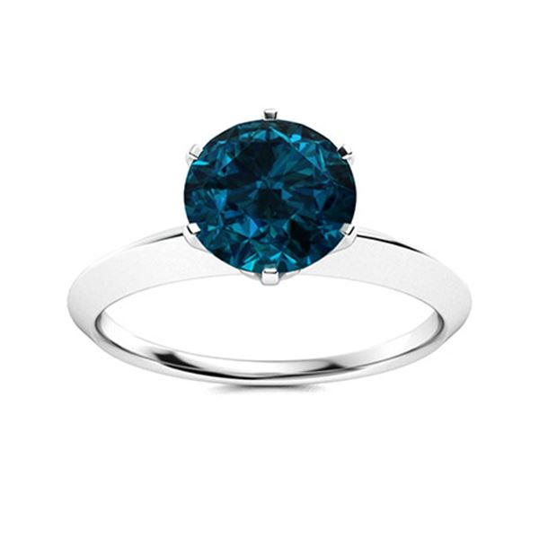 Natural 2.51 CTW Topaz Solitaire Ring 14K White Gold