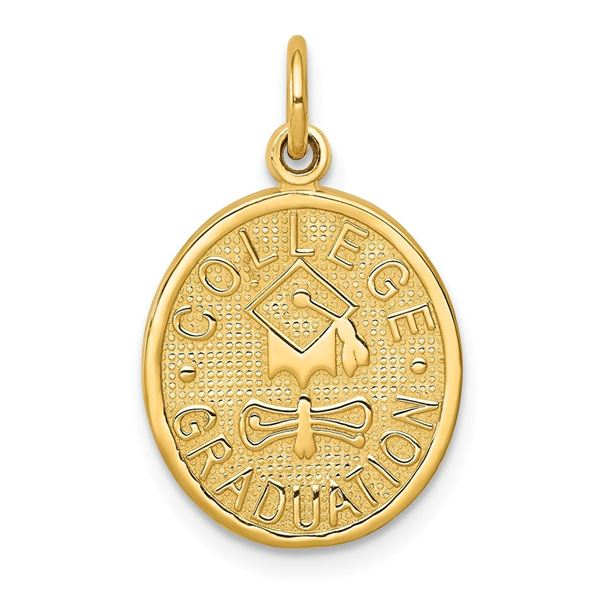 14k Gold College Graduation Charm