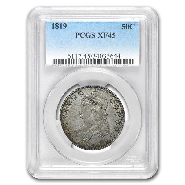 1819 Capped Bust Half Dollar XF-45 PCGS