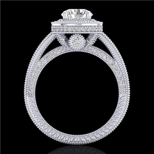 2.8 ctw VS/SI Diamond Solitaire Art Deco Ring 18k White Gold - REF-527H3R