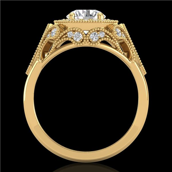 1.75 ctw VS/SI Diamond Solitaire Art Deco Ring 18k Yellow Gold - REF-436A4N