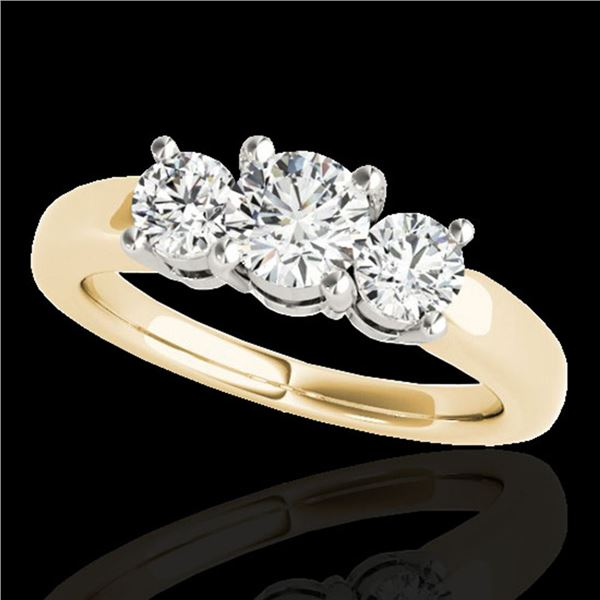 2 ctw Certified Diamond 3 Stone Solitaire Set 10k Yellow Gold - REF-218X2A