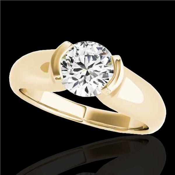 1 ctw Certified Diamond Solitaire Ring 10k Yellow Gold - REF-177H3R