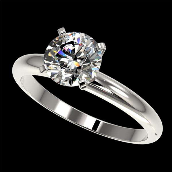 1.50 ctw Certified Quality Diamond Engagment Ring 10k White Gold - REF-271G8W