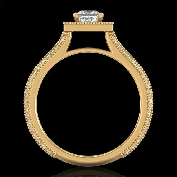 1.41 ctw Princess VS/SI Diamond Micro Pave Ring 18k Yellow Gold - REF-200H2R