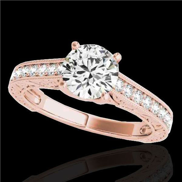1.82 ctw Certified Diamond Solitaire Ring 10k Rose Gold - REF-354A5N