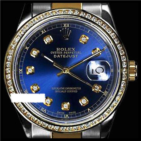 Rolex Ladies Two Tone 14K Gold/SS, Diamond Dial & Diamond Bezel, Sapphire Crystal