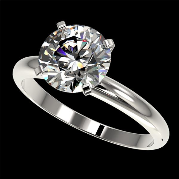 2.50 ctw Certified Quality Diamond Engagment Ring 10k White Gold - REF-606F4M