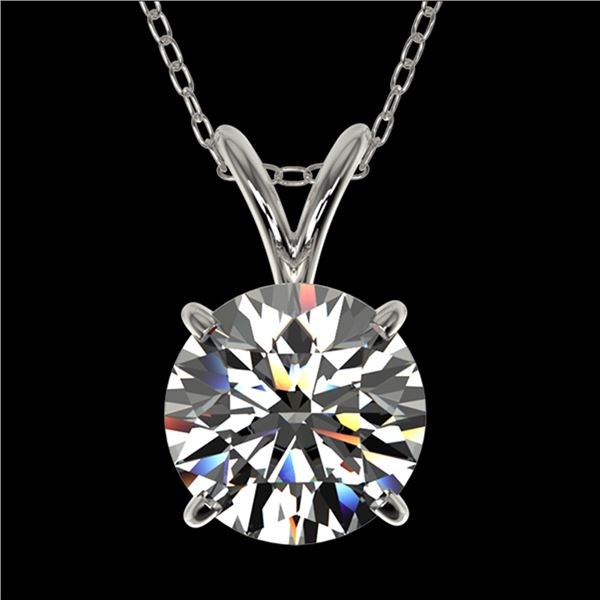 1.55 ctw Certified Quality Diamond Necklace 10k White Gold - REF-224F8M