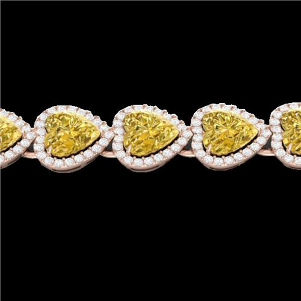 23 ctw Citrine & Micro Pave Bracelet Heart Halo 14k Rose Gold - REF-415K5Y